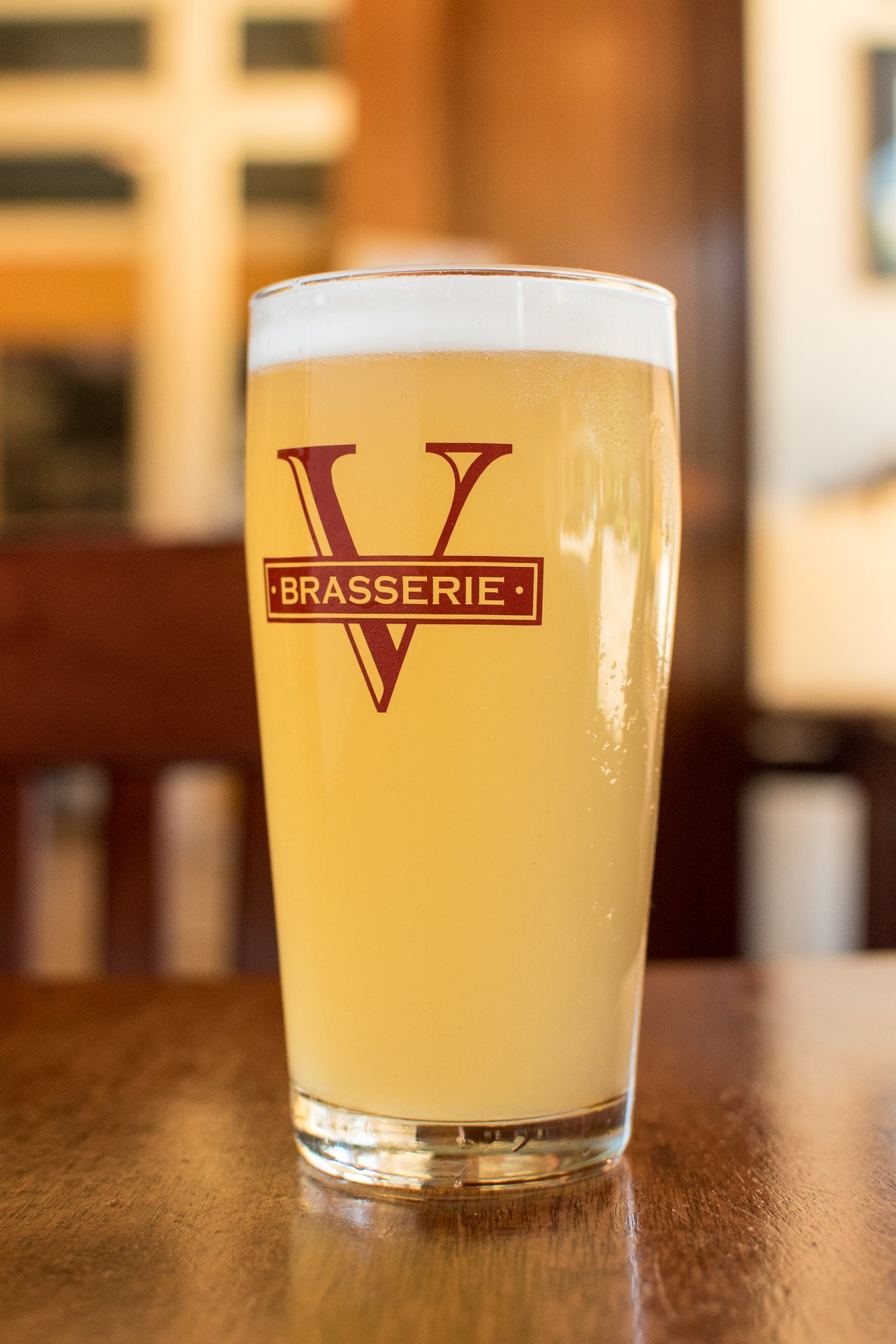 full glass of pale ale beer